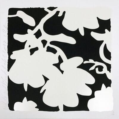 Donald Sultan, 'Lantern Flowers (Black)', 2017