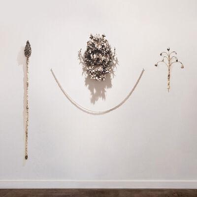 Phoebe Cummings, 'Horsetail Staff, Middlemist Mud Mask & Fritillary Rattle', 2017