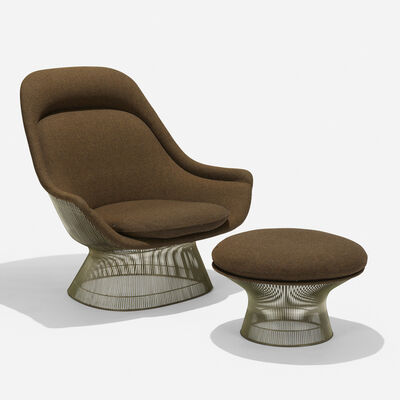 Warren Platner, 'lounge chair and ottoman', 1966/1977