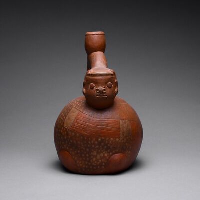 Chavin Culture, 'Chavin Redware Anthropomorphic Vessel', 900 BC to 500 BC
