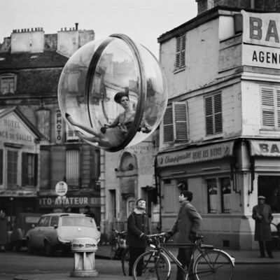 Melvin Sokolsky, 'Bicycle Street, Paris', 1963