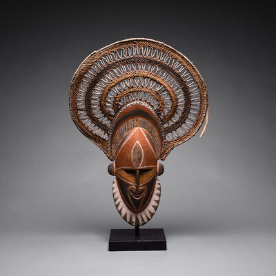 Sepik People of Papua New Guinea, 'Abelam Wooden Polychrome Mask', 20th Century AD