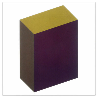 Sol LeWitt, 'Forms Derived from a Cube (Colors Superimposed), Plate #07', 1991