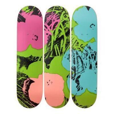 Andy Warhol, 'Flowers Green Skateboard Deck', 2019
