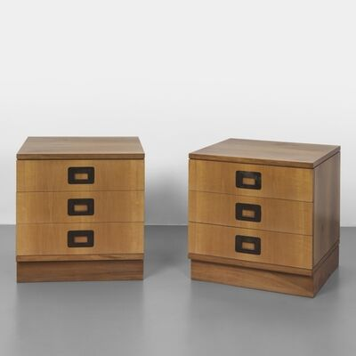 Ico Parisi, 'A pair of night tables from the 'Parisi 1' series Cantù', late 1950's