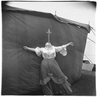 Diane Arbus, 'Albino Sword Swallower at a Carnival, MD', 1970