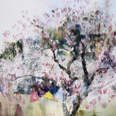 Darlene Cole, 'Velvet (when the cherry blossoms and magnolia happen at the same time)', 2018