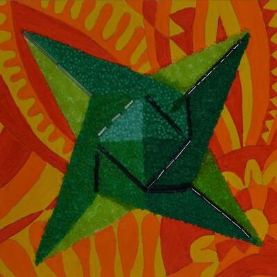Mary Jo Karimnia, 'Green Star on Orange', 2016