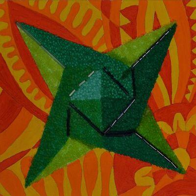 Mary Jo Karimnia, 'Green Star on Orange', 2016