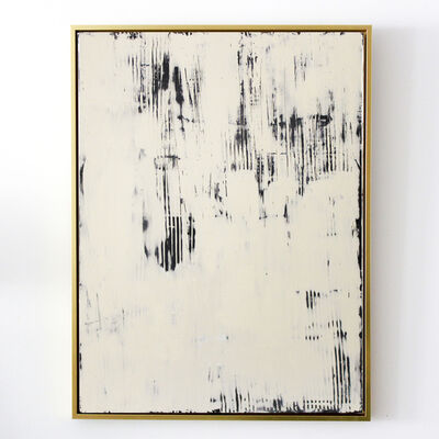 "Jacqueline Jandrell, ' ""Luminous""  compound joint spray paint, framed on canvas ', 2020"