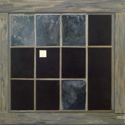 Lois Dodd, 'Barn Window with White Square', 1991