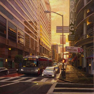 Greg Gandy, 'Sunset on O'Farrell and Mason', 2018
