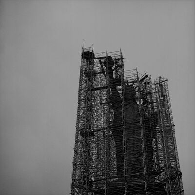 Rosalind Solomon, 'Liberty Scaffolded', 1976