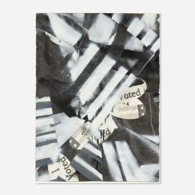 Karl Haendel, 'I Voted (2008) with spray #1', 2008
