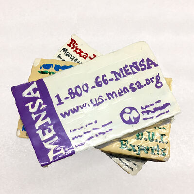 Jean Lowe, 'Business Cards (Mensa)', 2005
