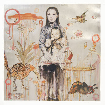Hung Liu 刘虹, 'Mother and Child - Silver (1/9)', 2020