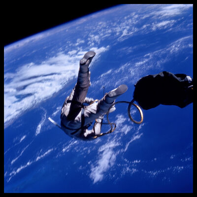 Michael Light, '010 Edward White at 17,500 mph Over the Gulf of Mexico; Photographed by James McDivitt, Gemini 4, June 3, 1965', 1999