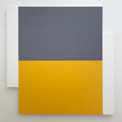 Scot Heywood, 'Poles - White, Grey, Yellow', 2012