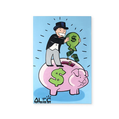 Alec Monopoly, 'Monopoly with Piggy Bank', 2019