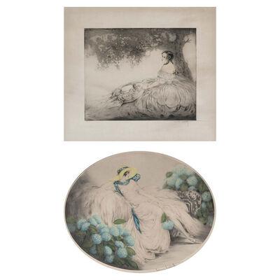 Louis Icart, 'Summer Shade; Hydrangeas (Holland/Catania/Isen 191A; 373)'