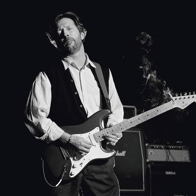 Terry O'Neill, 'Clapton America Black & white'