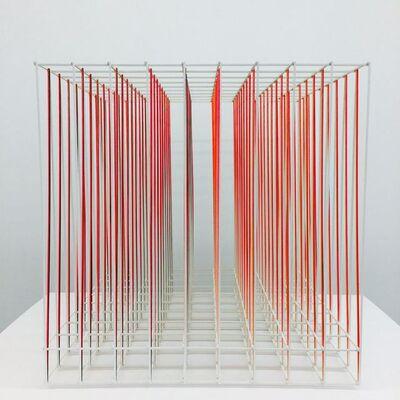 Alois Kronschlaeger, 'Cube (Diagonal Lines)', 2016