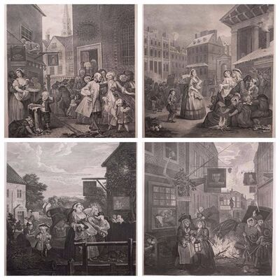 William Hogarth, 'Four Times of the Day (Set of 4)', 1822