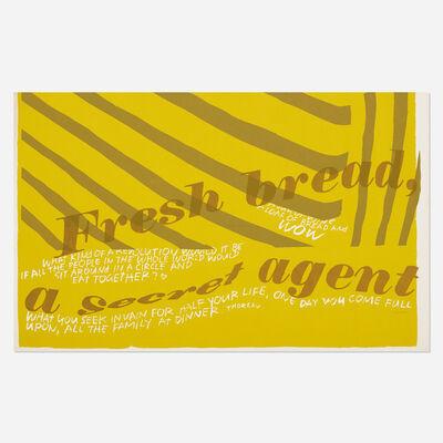 Corita Kent, 'fresh bread', 1967