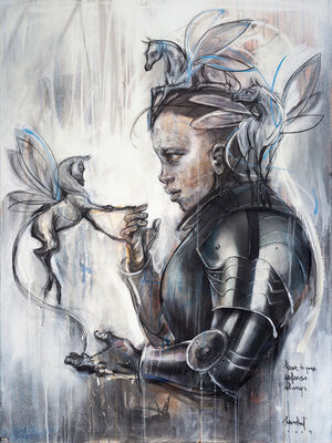 Herakut, 'Little Warrior', 2019