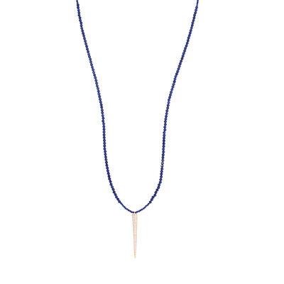 Emily Elaine, 'Lapis CZ Spike Necklace', 2017