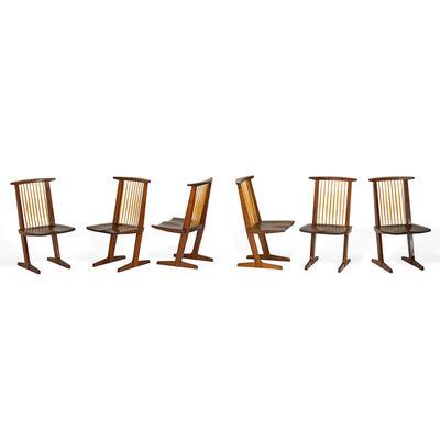 Mira Nakashima, 'Set of six Conoid chairs, New Hope, PA', 1994