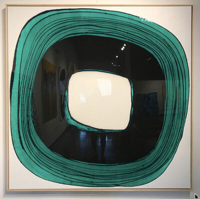 Ted Collier, 'Drip Circle Series 6, Pthalto Green', 2019