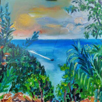 Norma de Saint Picman, 'Water series summer 2019 - plein air in situ paintings, Strunjan bay, boat crossing...', 2019