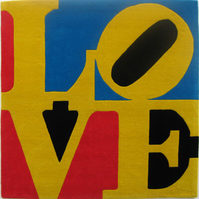 Robert Indiana, 'Chosen Love (blue red black)', 1995
