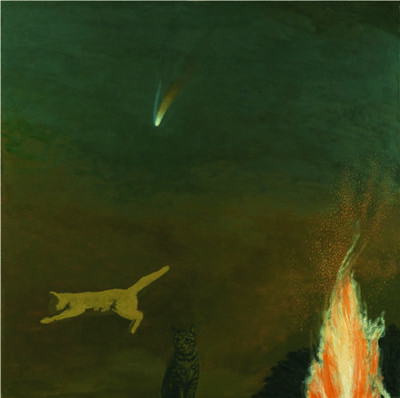 David Inshaw, 'Cats and Comet', 2001