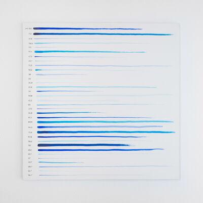 Antonio Scaccabarozzi, 'linee quasi rette (372)', 1980