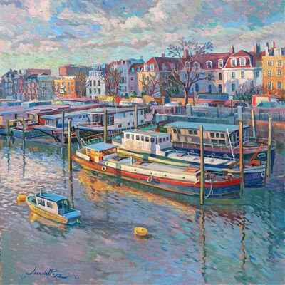 Juan del Pozo, 'Chelsea Houseboats - original London cityscape', 2021