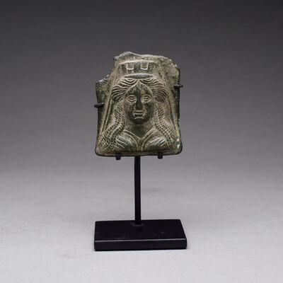 Italy, Rome, Greco-Roman Period, 'Greco-Roman Bronze Votive Plaque of the Goddess Tyche', 200 BC to 300 AD