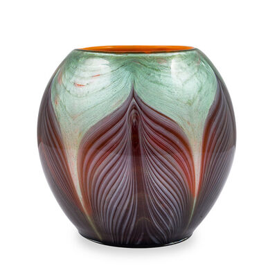 Loetz, 'Rare Loetz Ball-shaped Vase Titania Gre 4634 ca 1906 Art Nouveau Glass', ca. 1906