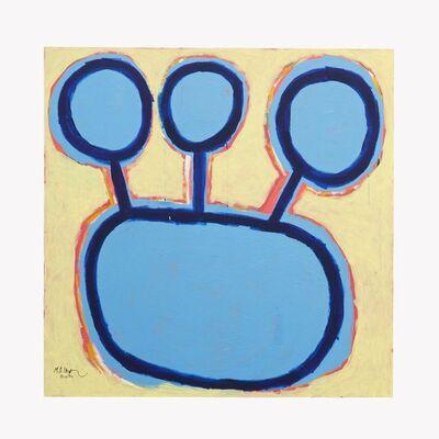 Mohammed Ahmed Ibrahim, '3 Blue Flowers', 2020