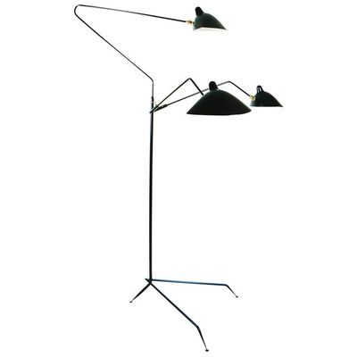 Serge Mouille, 'Serge Mouille Mid-Century Modern Black Three Rotating Arms Floor Lamp', 2015