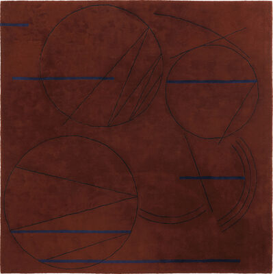Steven Holl, 'Sketch carpet, from Museum Tower, New York', 1987