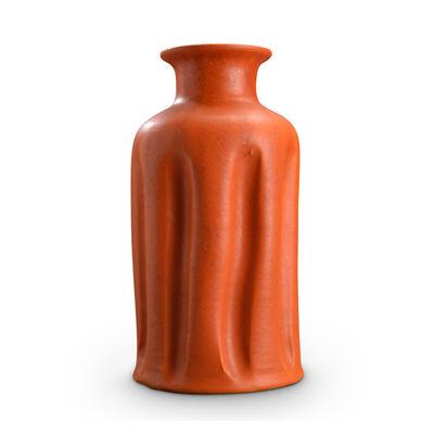 Kähler, 'Vase with folding sides glazed bright orange by Kähler', 1950