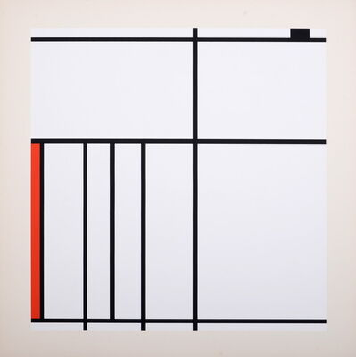 Piet Mondrian, 'Composition in White, Black, and Red', 1936 (1967)
