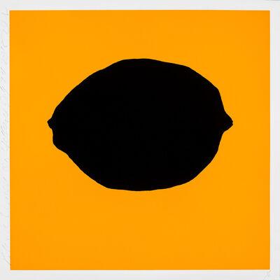 Donald Sultan, 'Black Lemon on Yellow, July 24 2018', 2018