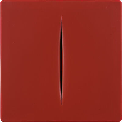 Lucio Fontana, 'Concetto Spaziale (rosso) (R. & R. M-15)', 1968