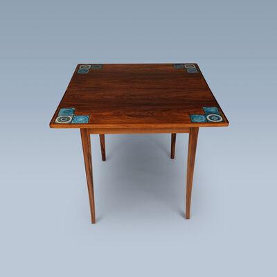 Danish furniture design, 'Foldable games table of rosewood for Illums Bolighus', 1950-1969