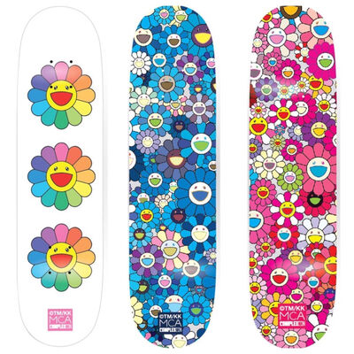 Takashi Murakami, 'Set of 3 Skateboards', 2017