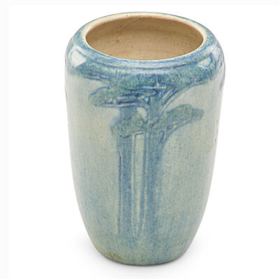Anna Frances Simpson, 'Transitional cabinet vase with pine trees', 1915