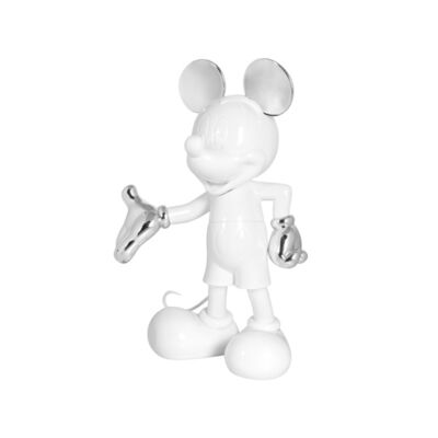 Leblon Delienne, 'Mickey Welcome - White lacquered & Silver chromed.', 2017